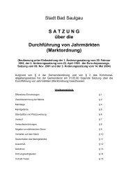 Marktordnung - Stadt Bad Saulgau