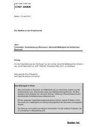 Limmatufer Instandstellung Ufermauern [PDF, 39.0 KB] - Stadt Baden