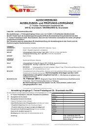 Ausschreibung Sulden ÜL-C-Trainer2013 - Badischer Turner Bund