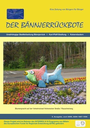5. Ausgabe - Stadtteil Bännjerrück/Karl-Pfaff-Siedlung