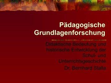 Pädagogische Grundlagen - Baeuml-rossnagl.de