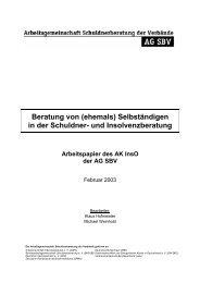 Beratung von (ehemals) Selbständigen in der Schuldner ... - BAG-SB