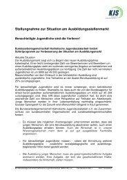 Stellungnahme Ausbildungsmarkt - Bundesarbeitsgemeinschaft ...