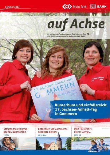 17. Sachsen-Anhalt-Tag in Gommern - Bahn.de