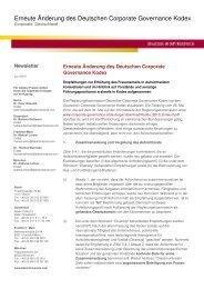 Newsletter_Erneute Änderung des Deutschen Coporate ...