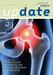 UPDATE September 2012 - Uniklinik Balgrist