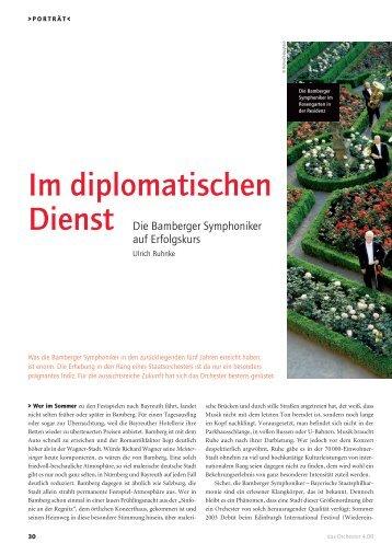 Im diplomatischen - Bamberg Symphony Orchestra