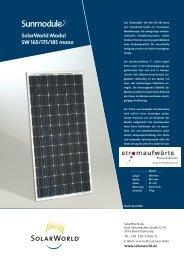 Solarworld Modul SW 165/175/185 mono