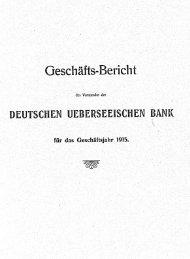 Geschäfts-Bericht - Historische Gesellschaft der Deutschen Bank e.V.