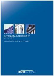 offenlegungsbericht - BANK SCHILLING & CO - Aktiengesellschaft