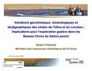 Variations géochimiques, minéralogiques et stratigraphiques des ...