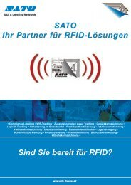 Sind Sie bereit für RFID? SATO Ihr Partner für RFID-Lösungen
