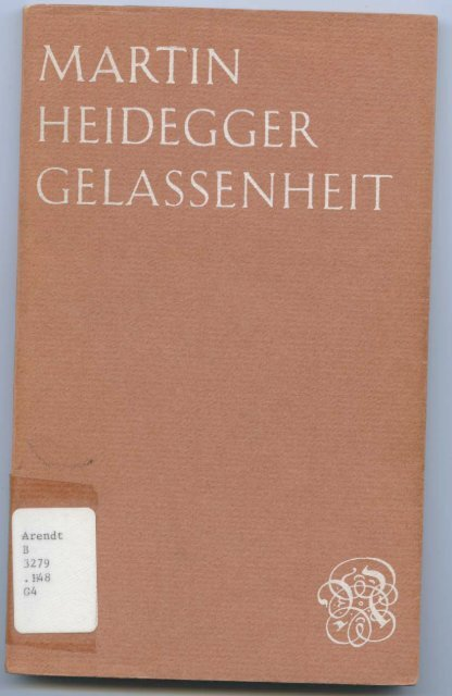 Page 1 , MARTIN fi HEIDEGGER _ GELASSENHEIT Page 2 Page 3 ...