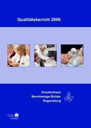 Qualitätsbericht 2006 - Krankenhaus Barmherzige Brüder