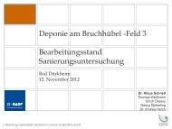 Deponie am Bruchhübel -Feld 3 Bearbeitungsstand ... - BASF.com