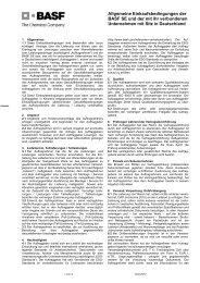 Allgemeine Einkaufsbedingungen der BASF SE und der ... - BASF.com
