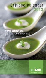 Genießerkalender 2013 - BASF.com