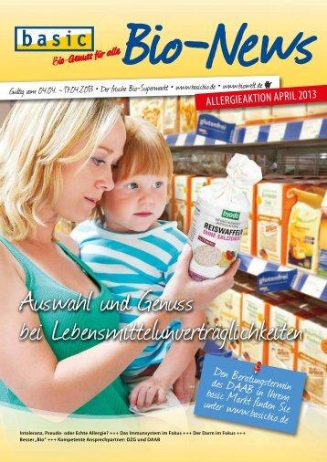 Auswahl und Genuss bei Lebensmittelunverträglichkeiten - Basic