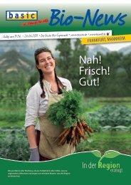 Bio-News Regionalität Frankfurt, Mannheim - Basic