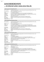 AUSSCHREIBUNGSTEXTE ... im Internet unter: www.emco-bau.de