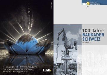"""können Sie die Festschrift """"100 Jahre Baukader Schweiz"""" - Baublatt"""