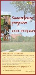 Download Flyer Sommer-Ferienprogramm - Bauernhaus-Museum ...