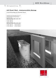 ACO Hochbau - Bauhandwerk