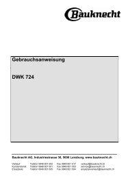 Gebrauchsanweisung DWK 724 - Bauknecht