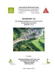 Die Wildbachereignisse im Sommer 2010 - Ereignisdokumentation