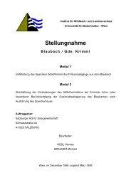 Stellungnahme Blaubach / Gde. Krimml