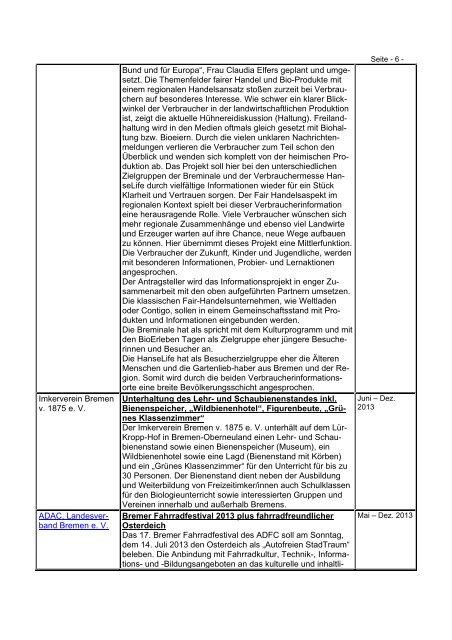 Übersicht der geförderten Projekte 2013 (pdf, 44.3 KB)