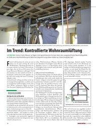 Im Trend: Kontrollierte Wohnraumlüftung - bauweb.co.at