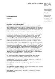 BDA Presseinformation_BDA-SARP-Award 2013 ... - TU Dortmund