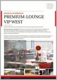 Premium-Lounge VIP West.pptx - Bayer 04 Leverkusen