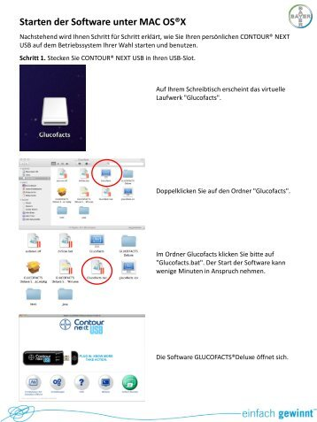Starten der Software unter MAC OS®X