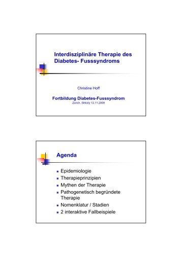 Interdisziplinäre Therapie des Diabetes - Bayer Diabetes Care ...