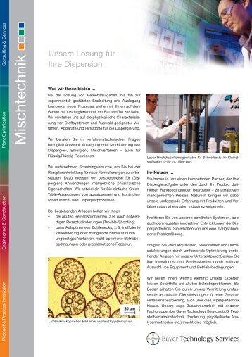 Mischtechnik - Bayer Technology Services