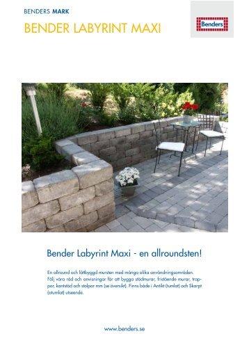 bender labyrint maxi - Benders