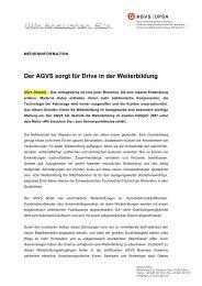 Der AGVS sorgt für Drive in der Weiterbildung - Bbaktuell