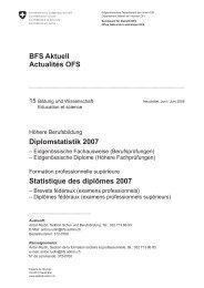 BFS Aktuell Actualités OFS Diplomstatistik 2007 ... - Bbaktuell
