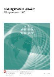 Bildungsmosaik Schweiz - Bbaktuell