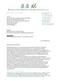 BBN Schreiben UMK.pdf - Bundesverband Beruflicher Naturschutz eV