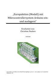 """""""Europaletten (Modell) mit Mikrocontrollersystem Arduino ein- und ..."""