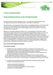Gute fachliche Praxis in der Forstwirtschaft - Bund Deutscher ...