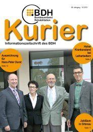 Kurier 1/2 2013 - BDH Bundesverband Rehabilitation