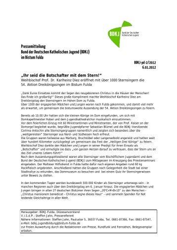 Pressemeldung 02/2012 - BDKJ Fulda