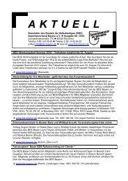 Newsletter - Bund der Selbständigen