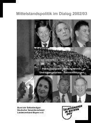 Mittelstandspolitik im Dialog 2002/03 - Bund der Selbständigen
