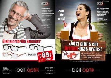 Jetzt gibt's ein Brillen-Glas gratis. - Beil Optik