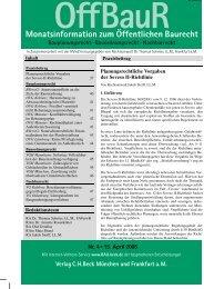Monatsinformation zum Öffentlichen Baurecht - Verlag C. H. Beck oHG